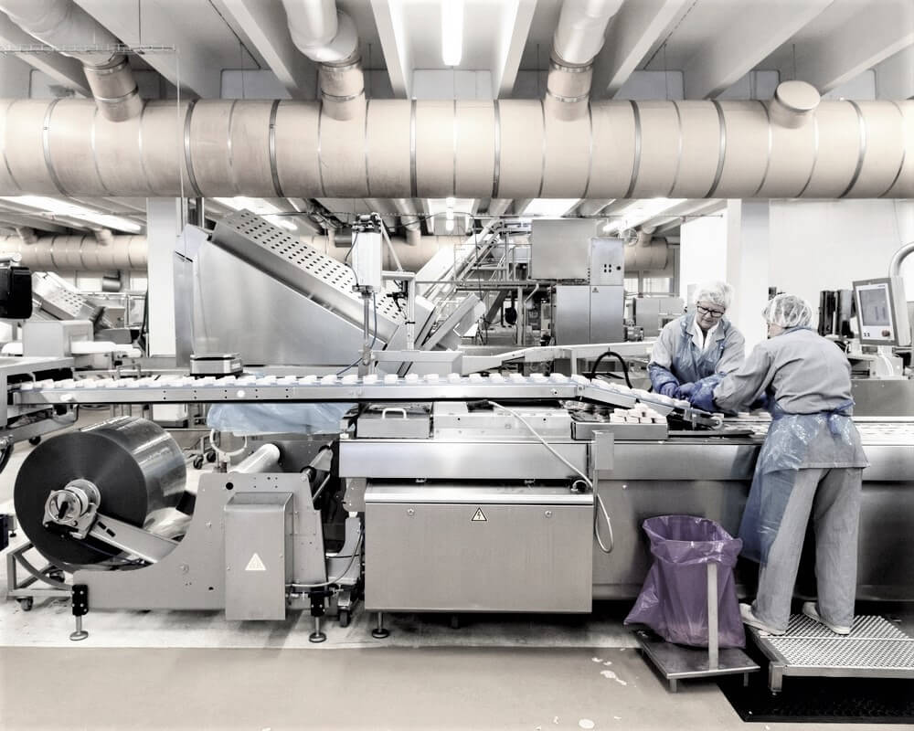 Produktionslinje til food - kontakt i2r A/S
