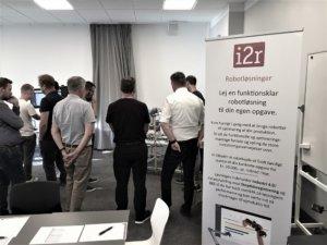 i2r gå-hjem-møde om robotløsninger og produktionsoptimering