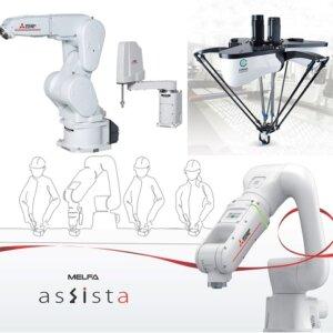 Mitsubishi, Scara - Ledarms - Delta - Kollaborative og Foodline Robotter